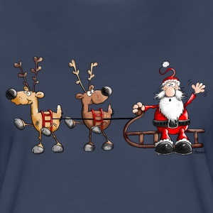 Happy Christmas Cartoon T-Shirts - Women's Premium T-Shirt