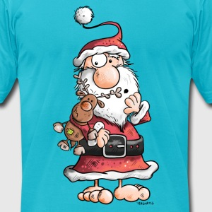 Cute Santa Claus Cartoon T-Shirts - Men's T-Shirt by American Apparel