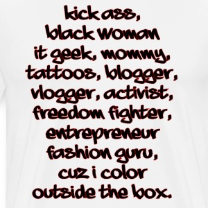 Blk Women and Proud - Men's Premium T-Shirt