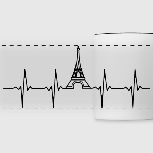 Eiffel Tower Heartbeat Mug - Panoramic Mug