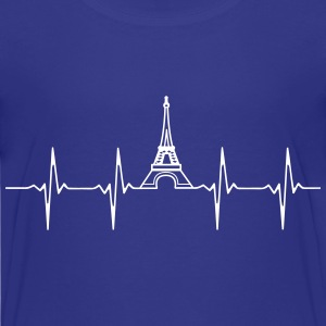 Eiffel Tower Heartbeat shirt - Kids' Premium T-Shirt