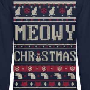 Meowy Christmas Long Sleeve Shirts - Crewneck Sweatshirt