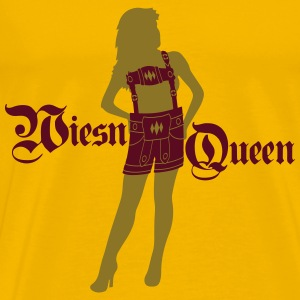 wiesn_queen_koenigin_prinzessin_dirndl_f T-Shirts - Men's Premium T-Shirt