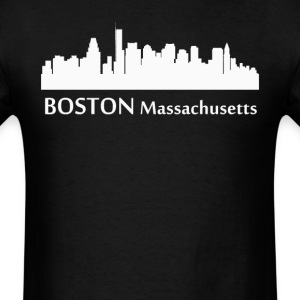 Boston Massachusetts Downtown Skyline Silhouette - Men's T-Shirt