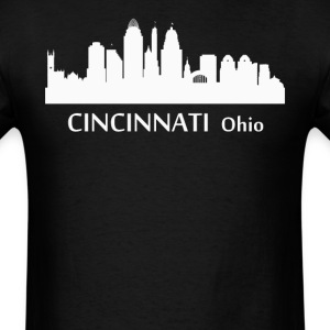 Cincinnati Ohio Downtown Skyline Silhouette - Men's T-Shirt