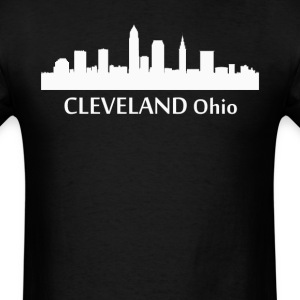 Cleveland Ohio Downtown Skyline Silhouette - Men's T-Shirt
