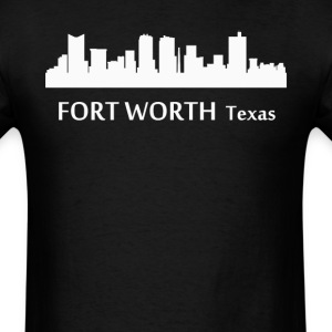 Fort Worth Texas Downtown Skyline Silhouette - Men's T-Shirt