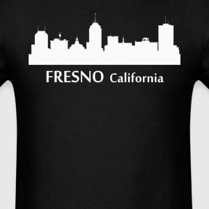 Fresno California Downtown Skyline Silhouette - Men's T-Shirt