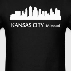 Kansas City Missouri Downtown Skyline Silhouette - Men's T-Shirt