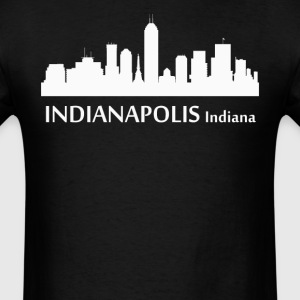 Indianapolis Indiana Downtown Skyline Silhouette - Men's T-Shirt