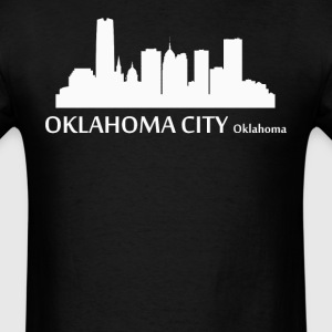 Oklahoma City Oklahoma Downtown Skyline - Men's T-Shirt
