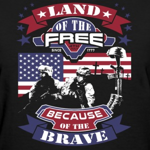 4th Of July - Land Of The Free, Because Of The Bra T-Shirts - Women's T-Shirt