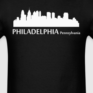 Philadelphia Pennsylvania Downtown Skyline - Men's T-Shirt