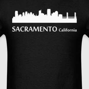 Sacramento California Downtown Skyline - Men's T-Shirt