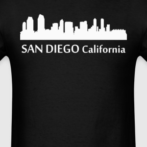 San Diego California Downtown Skyline Silhouette - Men's T-Shirt