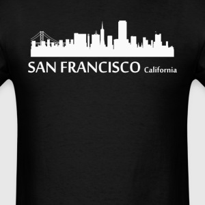 San Francisco California Downtown Skyline - Men's T-Shirt