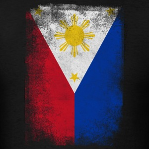 Philippines Flag Proud Filipino Vintage Distressed - Men's T-Shirt