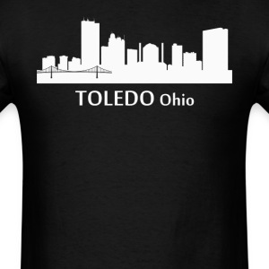Toledo Ohio Downtown Skyline Silhouette - Men's T-Shirt