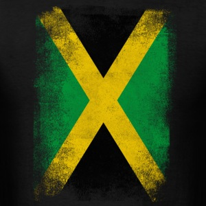 Jamaica Flag Proud Jamaican Vintage Distressed - Men's T-Shirt