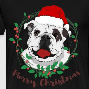 merry christmas bulldog - Men's Premium T-Shirt