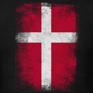 Denmark Flag Proud Danish Vintage Distressed - Men's T-Shirt