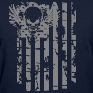 American Flag With Skull Infidel 1 T-Shirts - Women's T-Shirt