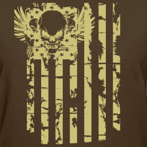 American Flag With Skull Infidel T-Shirts - Women's T-Shirt