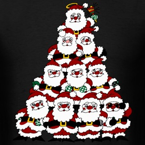 Tree of Santas - Men's T-Shirt