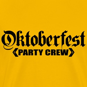 Party, crew, oktoberfest, celebrate, fun, drinking T-Shirts - Men's Premium T-Shirt