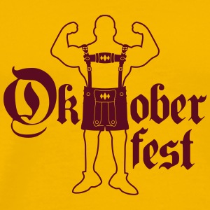 Oktoberfest text font large strong muscles bodybui T-Shirts - Men's Premium T-Shirt