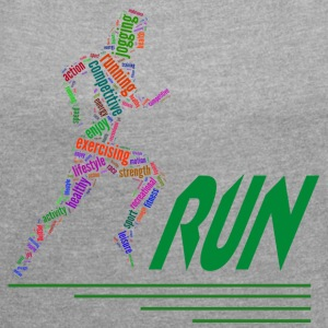 Running girl T-Shirts - Women´s Rolled Sleeve Boxy T-Shirt