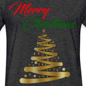 MERRY CHRISTMAS T-Shirts - Fitted Cotton/Poly T-Shirt by Next Level