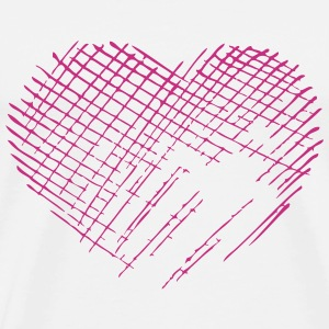 Heart Scratch T-Shirts - Men's Premium T-Shirt