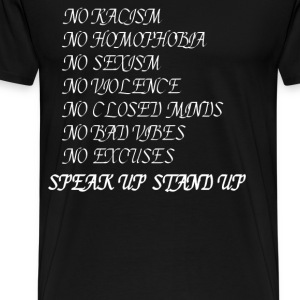 Stand up Speak up T-Shirts - Men's Premium T-Shirt
