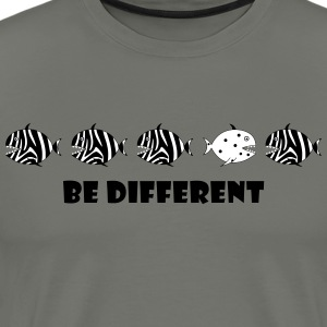 be different  zebra fish T-Shirts - Men's Premium T-Shirt