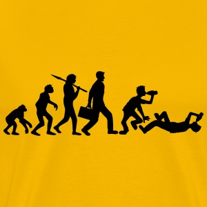 Lie evolution man work drunk drunk oktoberfest bee T-Shirts - Men's Premium T-Shirt