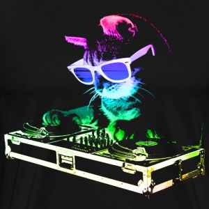 HOUSE CAT (Rainbow DJ Cat) - Men's Premium T-Shirt