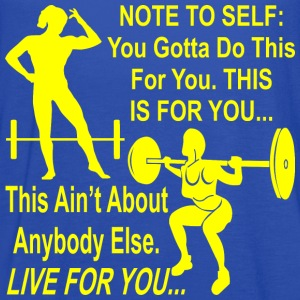 Fem Note To Self You Gotta Do this Training For Yo - Women's Flowy Tank Top by Bella