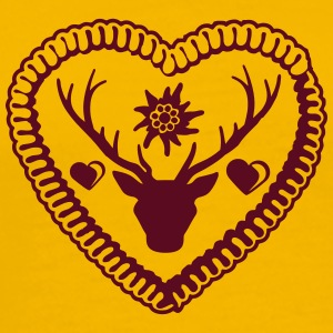 Gingerbread heart, love, tasty, stag, antlers, okt T-Shirts - Men's Premium T-Shirt