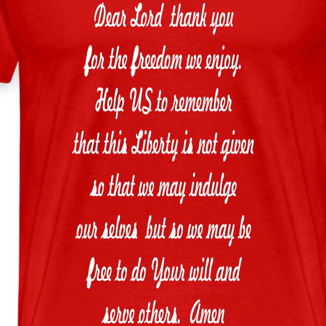 prayer for freedom