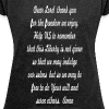 prayer for freedom - Women's Roll Cuff T-Shirt