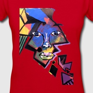 Face Me Artwork T-Shirts - Women's V-Neck T-Shirt