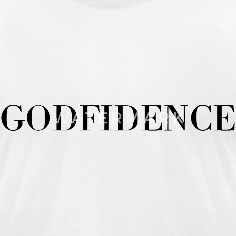 godfidence T-Shirts - Men's T-Shirt by American Apparel