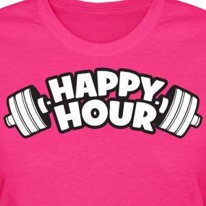 Happy Hour - Barbell T-Shirts - Women's T-Shirt