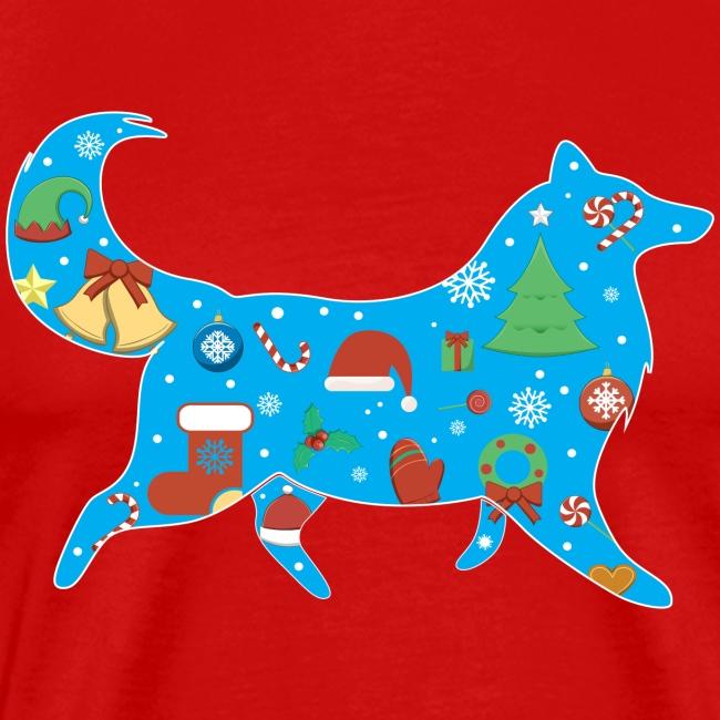 Christmas Collie - Mens Big & Tall T-shirt