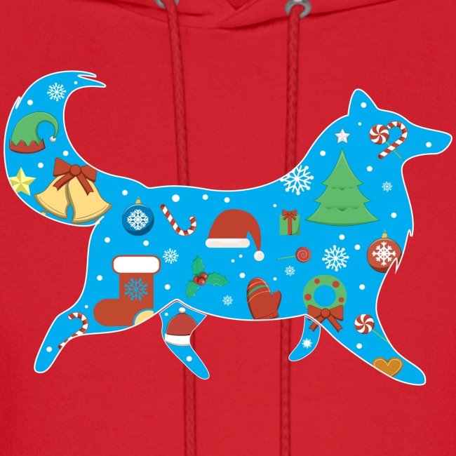 Christmas Collie - Mens Hoodie