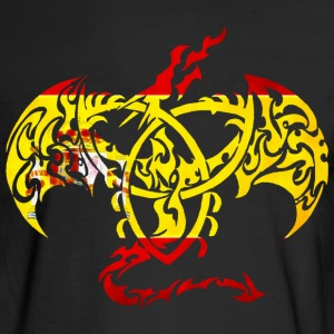 SPAIN FLAG DRAGON BACK Long Sleeve Shirts - Men's Long Sleeve T-Shirt