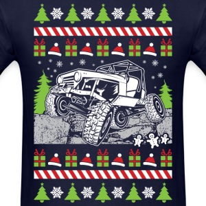 Jeep Rock Ugly Christmas T-Shirts - Men's T-Shirt