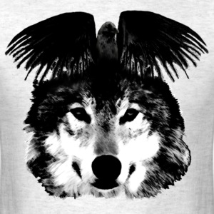 Wolf and crow - Men's T-Shirt