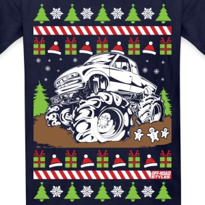 Mud Truck Ugly Christmas Kids' Shirts - Kids' T-Shirt